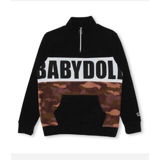 ベビードール(BABYDOLL)のBABYDOLL 柄切替ハーフジップフリーストレーナー(トレーナー/スウェット)