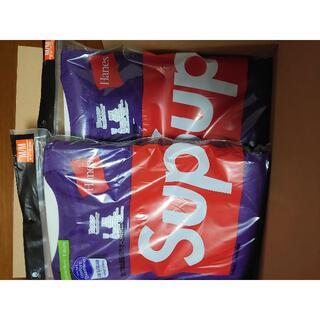 Supreme - 特価!2セットSupreme Hanes Tagless Tees紫Ⅿ2枚パック