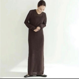 FRAY I.D - louren vintage lace knit dress(brown)