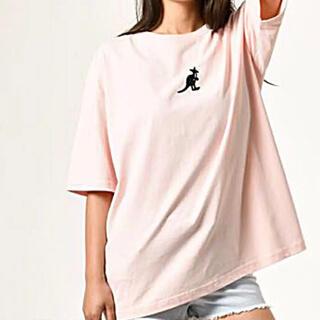 カンゴール(KANGOL)のカンゴール Tシャツ XL ピンク ユニセックス オーバーサイズ(Tシャツ/カットソー(半袖/袖なし))