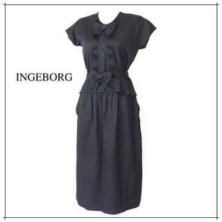 インゲボルグ(INGEBORG)のインゲボルグ★コットン素材 リボン セットアップ 春夏 グレー系(セット/コーデ)