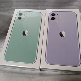 アイフォーン(iPhone)の【ひーろー様専用】【新品未開封】 iPhone11  SIMフリー 2台セット(スマートフォン本体)