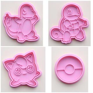 新品   ポケモン クッキー型  4個セット(キャラクターグッズ)