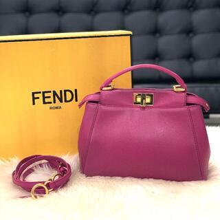 FENDI - 美品 FENDI フェンディ ミニピーカブー パープル
