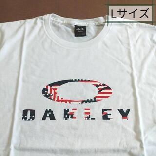 オークリー(Oakley)のOakley オークリー Tシャツ、USAフラッグTシャツ、ビッグロゴ、Lサイズ(Tシャツ/カットソー(半袖/袖なし))