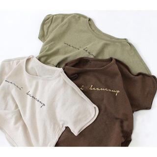 *韓国子供服 * ビッグシルエット ロゴT カットソー 半袖 tシャツ 90(Tシャツ/カットソー)