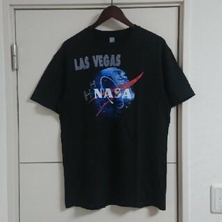 NASA ナサ アメリカ航空宇宙局 Tシャツ デカロゴ 古着