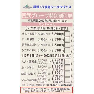 八景島シーパラダイス 割引券(水族館)