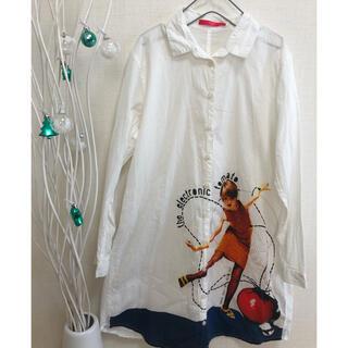 グラニフ(Graniph)のgraniph デザイン ロングシャツ 白 女の子 サイズフリー(シャツ/ブラウス(長袖/七分))