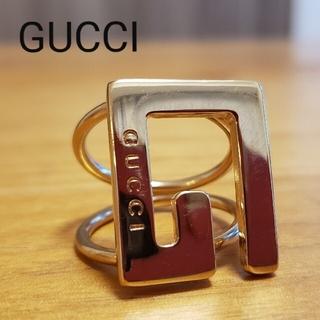 Gucci - [美品]GUCCI グッチ Gマーク 2連リング Italy スカーフリング