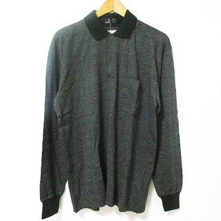 ダンヒル(Dunhill)のダンヒル dunhill ヴィンテージ ポロシャツ 長袖 ダイヤ柄 ウール 緑 (ポロシャツ)