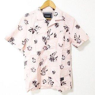 ゲス(GUESS)のゲス GUESS シャツ 半袖 花柄 コットン ピンク M(シャツ)