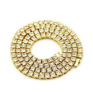 ゴールド 50cm ジルコニアネックレス 金ネックレス