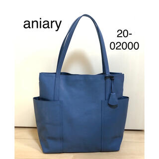 aniary - 美品 aniary トート バッグ 20-02000 ブルー ユニセックス
