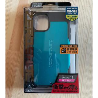ELECOM - iPhone 11 ケース ZEROSHOCK 衝撃吸収 (ブルー)