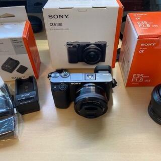 SONY - SONYのミラーレス一眼カメラ α6100 パワーズームレンズキット ブラック