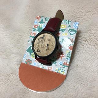STUDIO CLIP - studio CLIP×MOOMIN 新品 ウッドラウンド腕時計(リトルミイ )