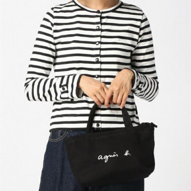 agnes b.(アニエスベー)のアニエスベートートバッグ Sサイズ ミニトートバッグ ブラック 新品未使用 レディースのバッグ(トートバッグ)の商品写真
