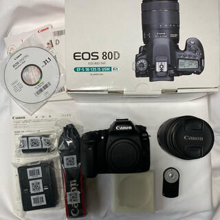 キヤノン(Canon)のCanon 80D 18-135mm レンズキット(デジタル一眼)