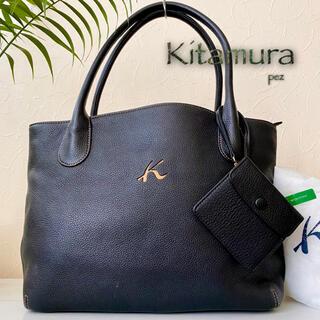 Kitamura - 新品同様 Kitamura キタムラ 定価3.2万 総本革 レザートートバッグ