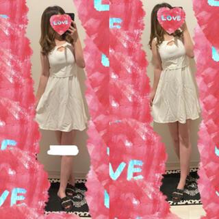 スパイラルガール(SPIRAL GIRL)の新品♡SPIRALGIRL♡胸あき♡ドッキングフレアワンピース♡(ミニワンピース)