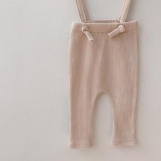 韓国子供服 リブパンツ オフホワイト80cm(パンツ)
