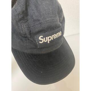 シュプリーム(Supreme)の2010s supreme シュプリーム キャップ リネン つば部分スウェード(キャップ)