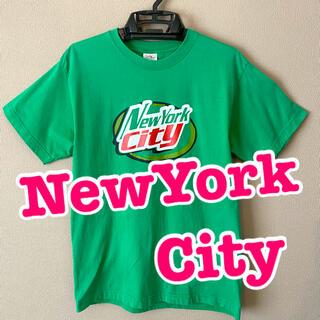 グリーン♥️「New York City」ロゴ Tシャツ♥️古着♥️(Tシャツ/カットソー(半袖/袖なし))