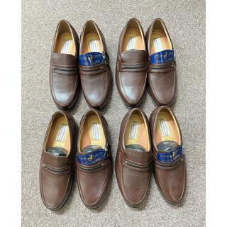 [てぃふぁにー様専用]ビジネスシューズ 紳士靴 本革 鹿皮 幅広 4足セット(ドレス/ビジネス)