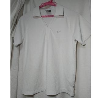 ナイキ(NIKE)のテニスウェア ナイキ 白襟 トップス Mサイズ(ウェア)