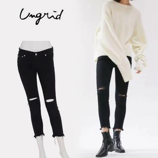 アングリッド(Ungrid)の新品✳︎未使用 UNGRID アングリッド ジーンズ ダメージジーンズ(デニム/ジーンズ)