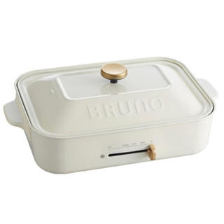 I.D.E.A international - BRUNO コンパクトホットプレート 白色 BOE021[新品未使用]