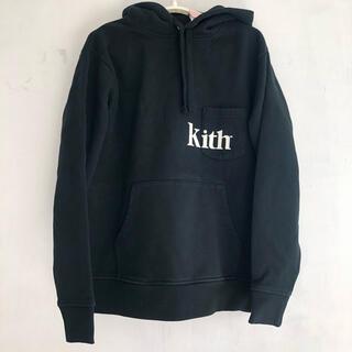 Supreme - Kith キス 黒 プルオーバーパーカー 刺繍 ロゴ ブラック