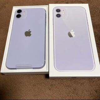 アイフォーン(iPhone)のiPhone 11 パープル 128 GB SIMフリー(スマートフォン本体)