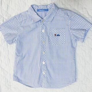 ファミリア(familiar)のファミリア  ギンガムチェックのシャツ 110センチ(ブラウス)