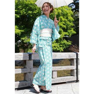TSUMORI CHISATO - 綿麻 麻の葉柄 水色浴衣セット