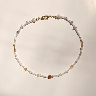【New】Glass beads choker necklace No.31