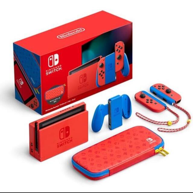 Nintendo Switch(ニンテンドースイッチ)のNintendo Switch 本体 スイッチ マリオ レッド×ブルー  エンタメ/ホビーのゲームソフト/ゲーム機本体(家庭用ゲーム機本体)の商品写真