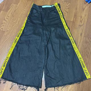 OFF-WHITE - OFF-WHITE Strap Flare Black Denim Jeans