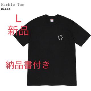 シュプリーム(Supreme)のSupreme Marble Tee L  Tシャツ 半袖 黒T  黒(Tシャツ/カットソー(半袖/袖なし))