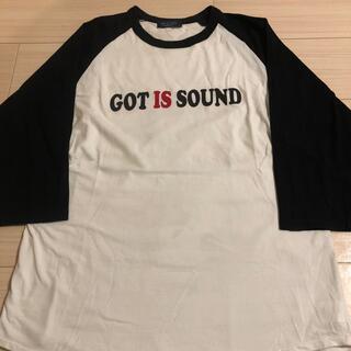 グッドイナフ(GOODENOUGH)の初期レットイットライドGOT IS SOUND 音符 7分Tシャツ ELT購入(Tシャツ/カットソー(半袖/袖なし))