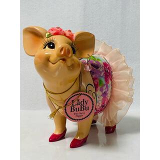 【 未使用 】Lady BuBu  花柄  Sexy Piggy  貯金箱(L)