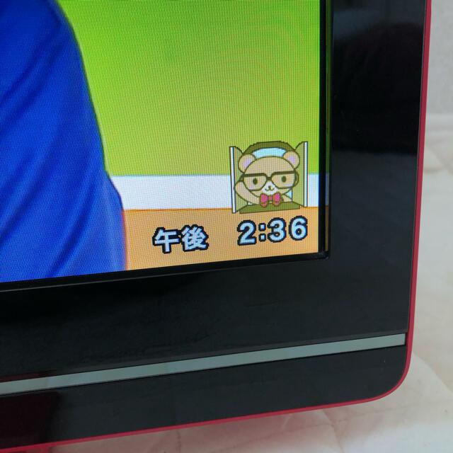AQUOS(アクオス)のシャープ LC19K7  ピンク 19インチ テレビ 2012年製 スマホ/家電/カメラのテレビ/映像機器(テレビ)の商品写真