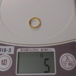 18金 シンプルリング 5g ゴールドアクセサリー k18 純金