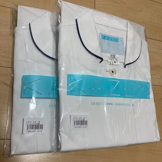 カゼン(KAZEN)のKAZEN レディスジャケット半袖 白衣 ナースウェア(その他)