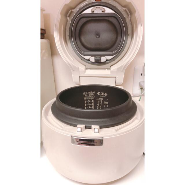 三菱(ミツビシ)のMITSUBISHI本炭釜 スマホ/家電/カメラの調理家電(炊飯器)の商品写真