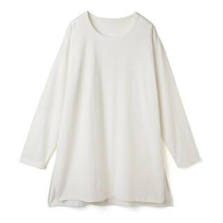 グレイル(GRL)のグレイル GRL USAコットンサイドスリットロンT オフホワイト(Tシャツ(長袖/七分))