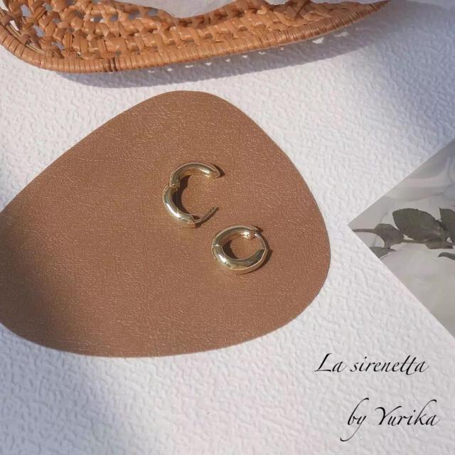 STAR JEWELRY(スタージュエリー)の14kgf simple hoop pierce レディースのアクセサリー(ピアス)の商品写真