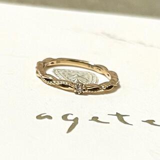 ノジェス(NOJESS)のアガット ノジェス K10 ダイヤモンド 透かしリング agete NOJESS(リング(指輪))