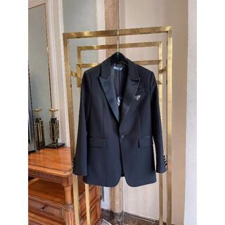 PRADA - PRADA ブラックリナイロン シングルブレストジャケット